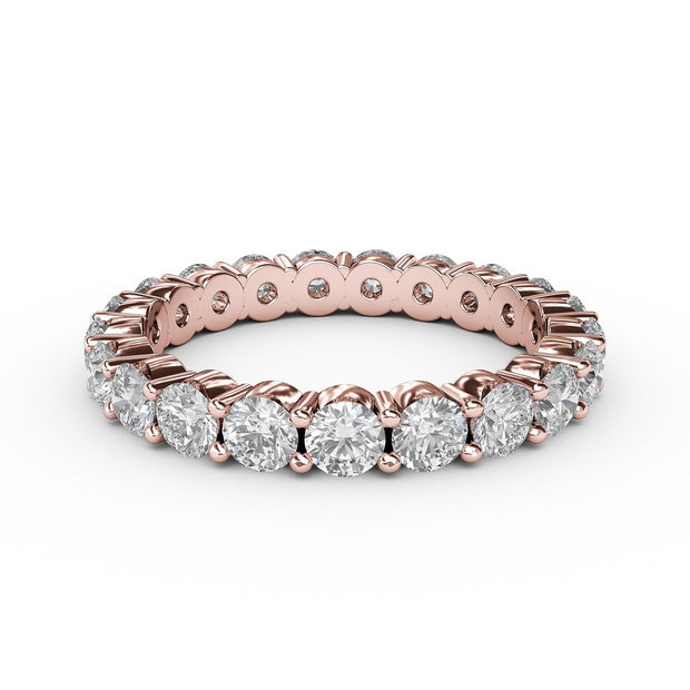 2 CT TW 14k <strong>Rose Gold</strong> Lab-Grown Diamond Eternity 4 Prong Ring