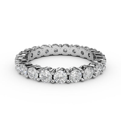 1 CT TW 14k <strong>White Gold</strong> Lab-Grown Diamond Eternity 4 Prong Ring