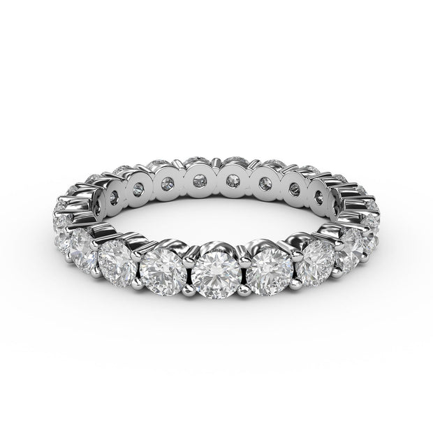 2 CT TW 14k <strong>White Gold</strong> Lab-Grown Diamond Eternity 4 Prong Ring
