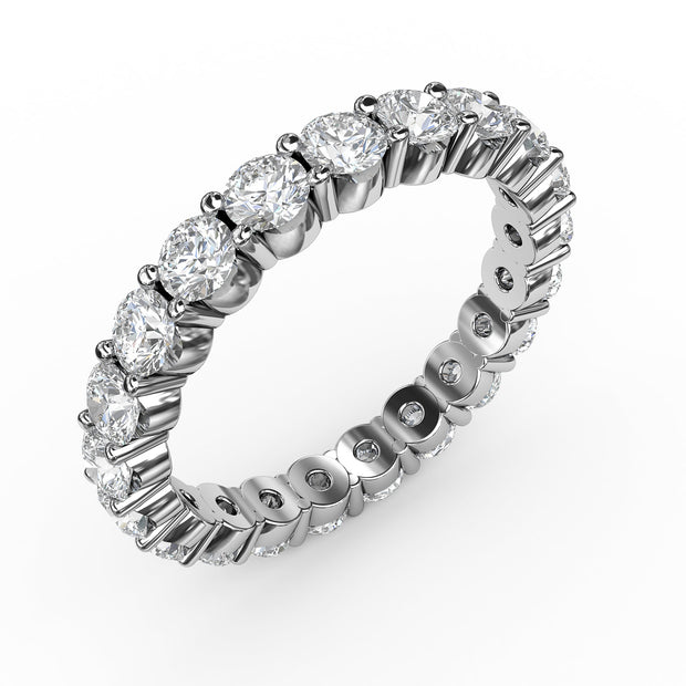 2 CT. TW Lab-Grown Diamond Eternity 4 Prong Ring