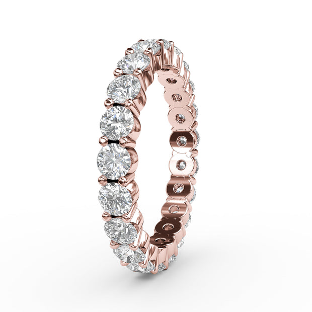 1 CT TW 14k <strong>Rose Gold</strong> Lab-Grown Diamond Eternity 4 Prong Ring