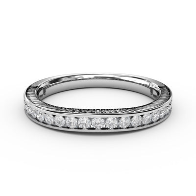 1/3 CT. TW 14k White Gold Lab-Grown Diamond Channel Wedding Band