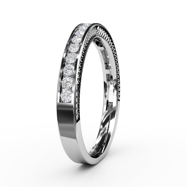 1/3 CT. TW Lab-Grown Diamond Channel Wedding Band