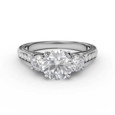 1 3/5 CT. TW Lab-Grown 3 Stone Engagement Ring