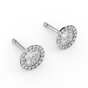 1 1/10 CT. TW Lab-Grown Diamond Halo Stud Earrings