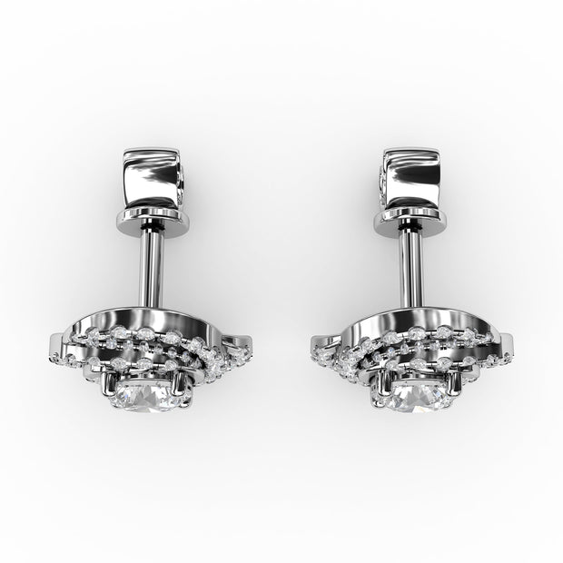 1 CT. TW Lab-Grown Diamond Swirl Stud Earrings