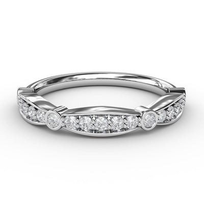 ½ CT TW 14k <strong>White Gold</strong> Lab-Grown Diamond Stackable Ring