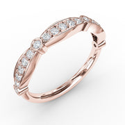 ½ CT TW 14k <strong>Rose Gold</strong> Lab-Grown Diamond Stackable Ring