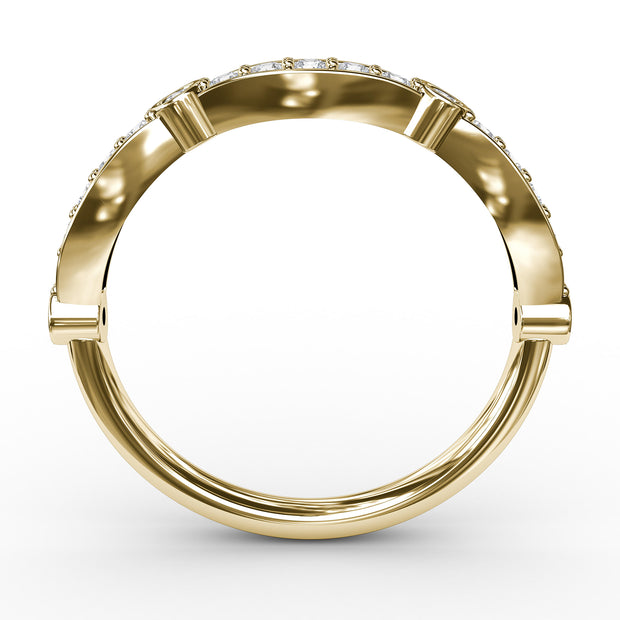 ½ CT TW 14k <strong>Yellow Gold</strong> Lab-Grown Diamond Stackable Ring