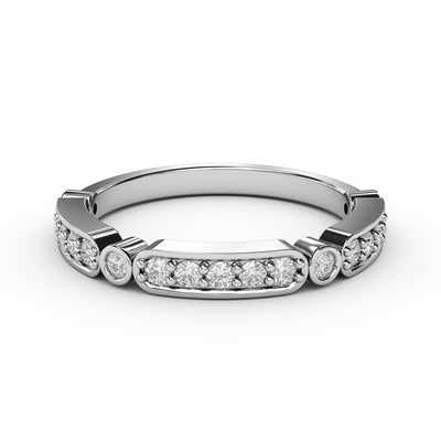 1/4 CT. TW Lab-Grown Diamonds Deco-Styled Ring