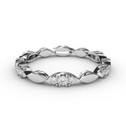 1/4 CT. TW 14k White Gold Lab-Grown Diamonds Marquis-Shaped Stackable Ring