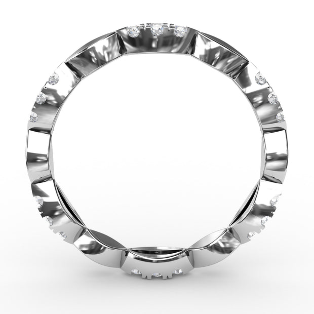 ¼ CT TW 14k <strong>White Gold</strong> Lab-Grown Diamonds Marquis-Shaped Stackable Ring