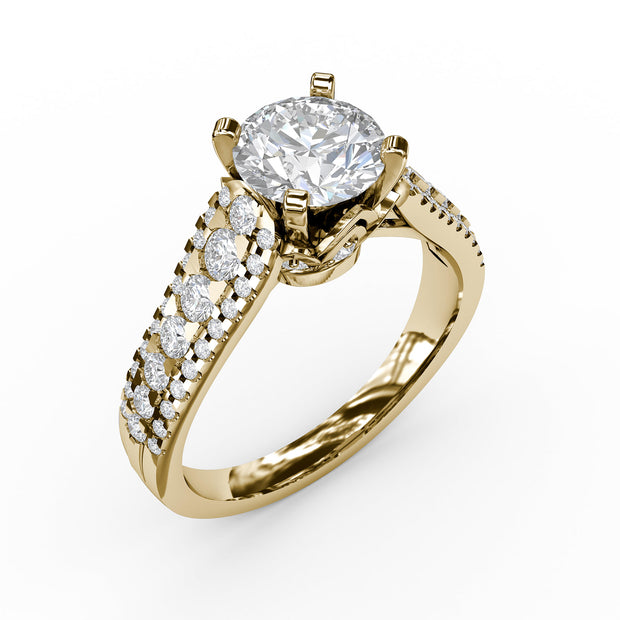 1 5/8 CT. TW Lab-Grown Diamond 3 Row Engagement Ring
