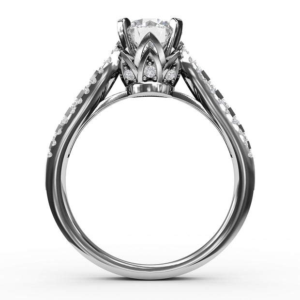 1 5/8 CT. TW 14k White Gold Lab-Grown Diamond 3 Row Engagement Ring
