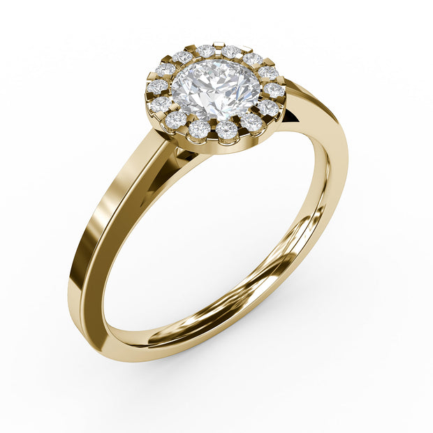 1/2 CT. TW Lab-Grown Diamond Halo Engagement Ring