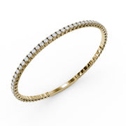 2 CT. TW Lab-Grown Diamond Flex Bangle Bracelet