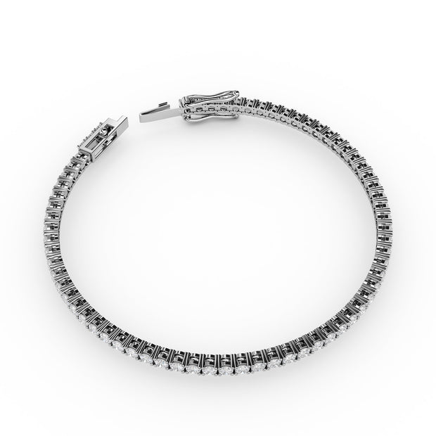 3 CT TW 14k <strong>White Gold</strong> Lab-Grown Diamond Tennis Bracelet
