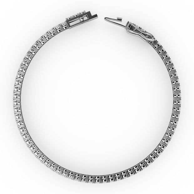 2 CT TW 14k <strong>White Gold</strong> Lab-Grown Diamond Tennis Bracelet