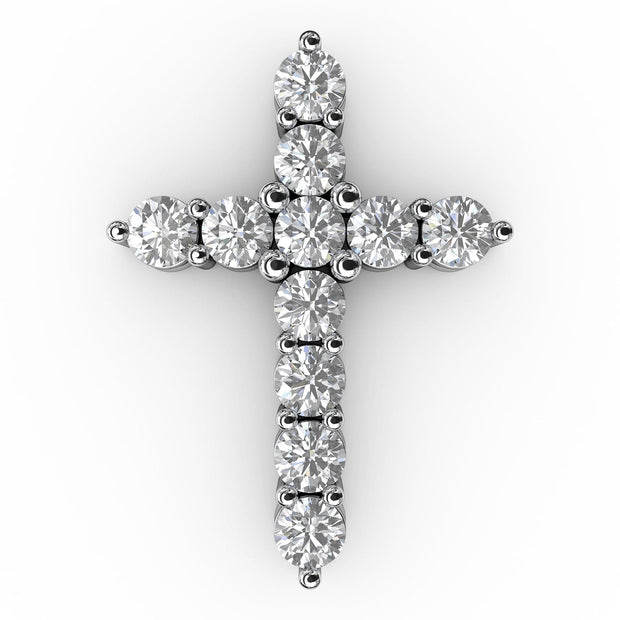 1 CT. TW Lab-Grown Diamond Cross Pendant