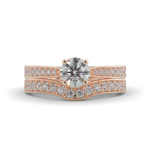 1 ¼ CT TW 14k <strong>Rose Gold</strong> Lab-Grown Diamond Bridal Set