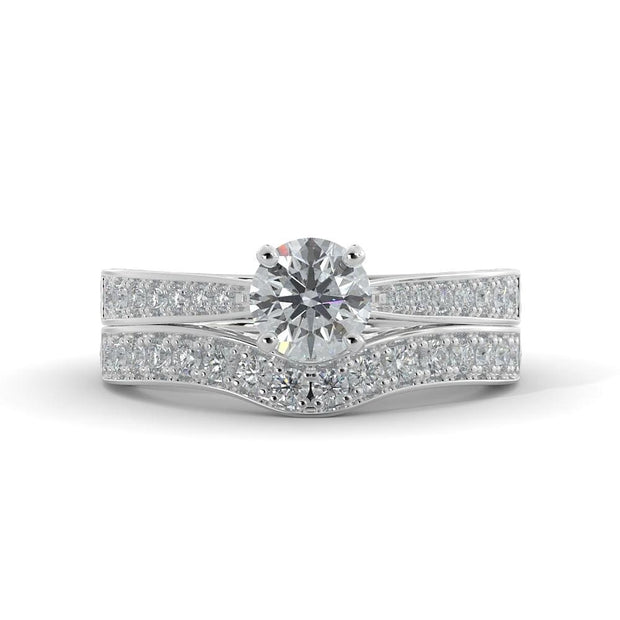1 ¼ CT TW 14k <strong>White Gold</strong> Lab-Grown Diamond Bridal Set