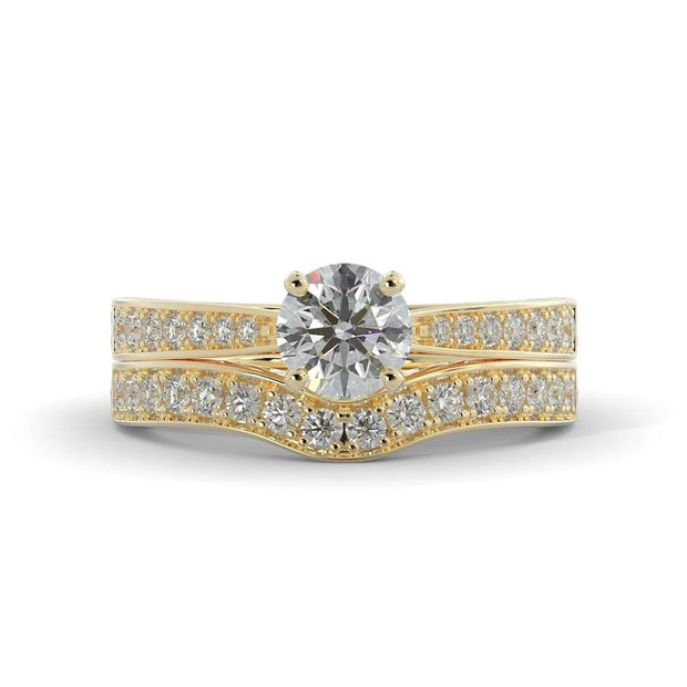 1 ¼ CT TW 14k <strong>Yellow Gold</strong> Lab-Grown Diamond Bridal Set