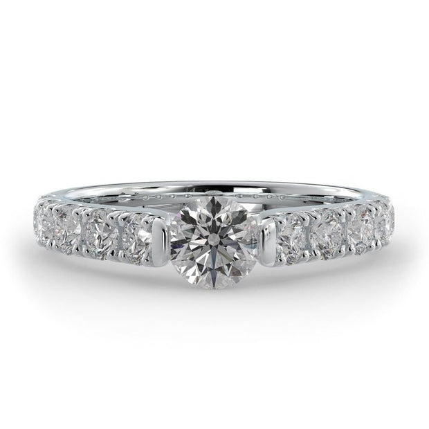 1 ¼ CT TW 14k <strong>White Gold</strong> Cathedral Lab-Grown Diamond Engagement Ring