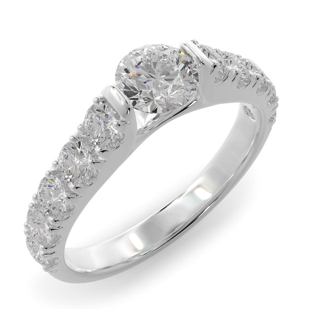 1 1/4 CT. TW 14k Gold Cathedral Lab-Grown Diamond Engagement Ring