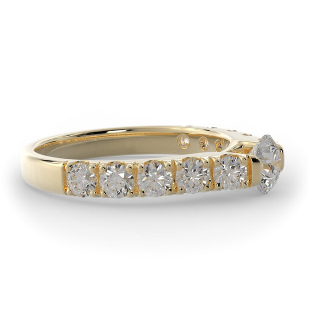 1 ¼ CT TW 14k <strong>Yellow Gold</strong> Cathedral Lab-Grown Diamond Engagement Ring