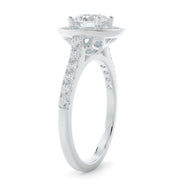 lab grown diamond engagement ring - white gold
