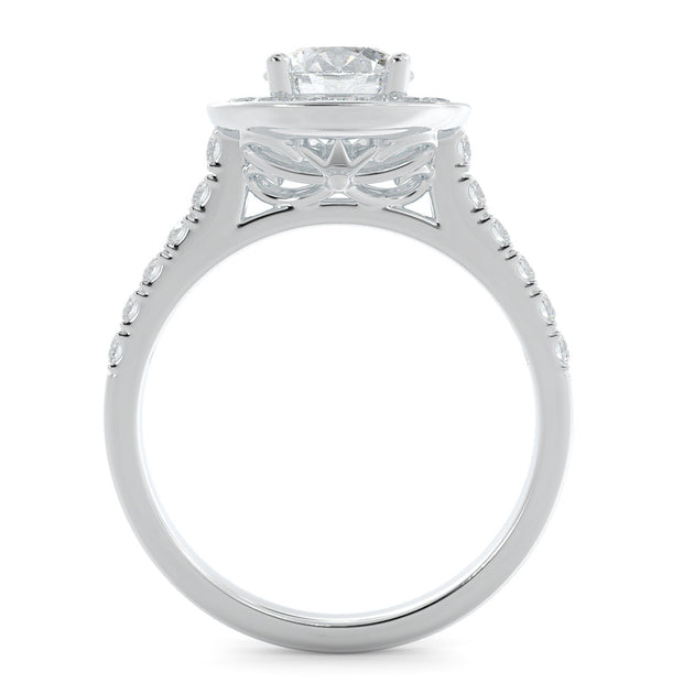Halo Lab-Grown Diamond Engagement Ring - white gold