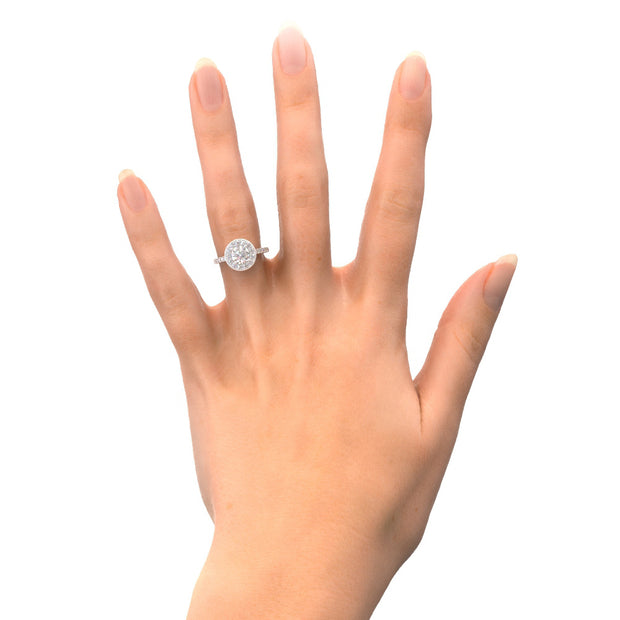 Halo Lab-Grown Diamond Engagement Ring
