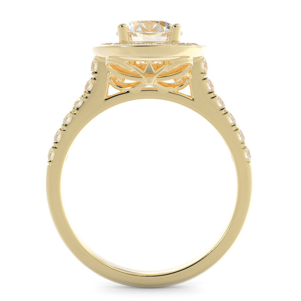 lab grown diamond engagement ring - yellow gold