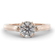 1 ⅙ CT TW 14k High Polished <strong>Rose Gold</strong> Lab-Grown Diamond Engagement Ring