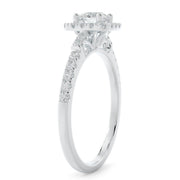 5/8 CT. TW 14k Gold Square Halo Lab-Grown Diamond Engagement Ring