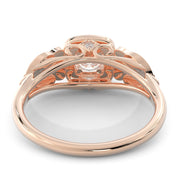 1 CT. TW 14k Rose Gold European Inspired Lab-Grown Diamond Halo Engagement Ring