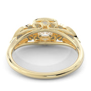 1 CT. TW 14k Yellow Gold European Inspired Lab-Grown Diamond Halo Engagement Ring