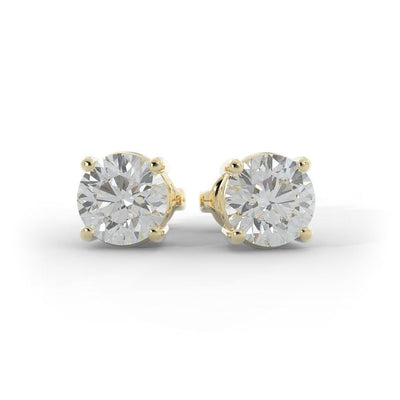 1 ½ CT TW 14k <strong>Yellow Gold</strong> Lab-Grown Diamond Stud Earrings
