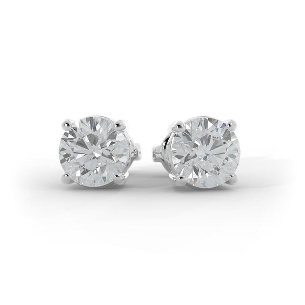 3 CT TW 14k <strong>White Gold</strong> Lab-Grown Diamond Stud Earrings