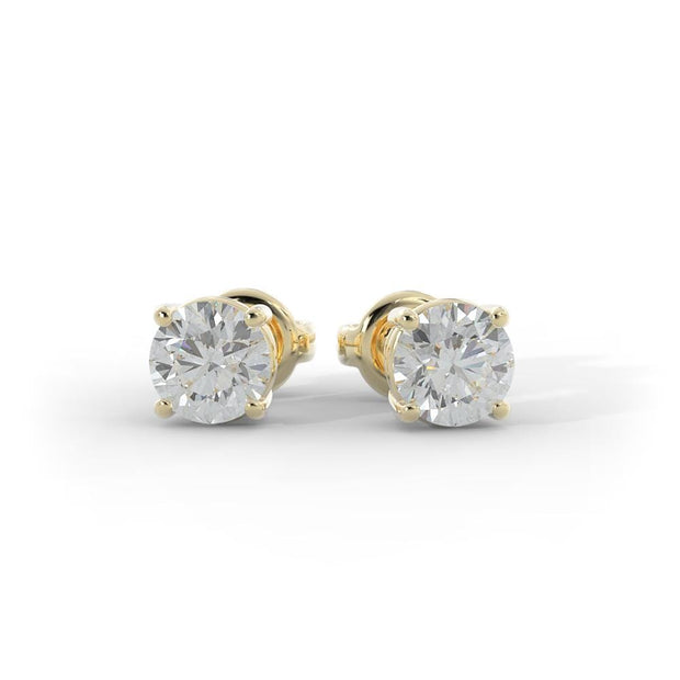 1/2 - 1 1/2 CT. TW 14k Gold Lab-Grown Diamond Stud Earrings