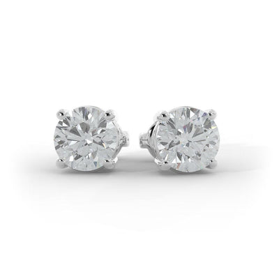 2 ½ CT TW 14k <strong>White Gold</strong> Lab-Grown Diamond Stud Earrings