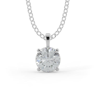 1 ¼ CT TW 14k <strong>White Gold</strong> Lab-Grown Diamond Solitaire Necklace