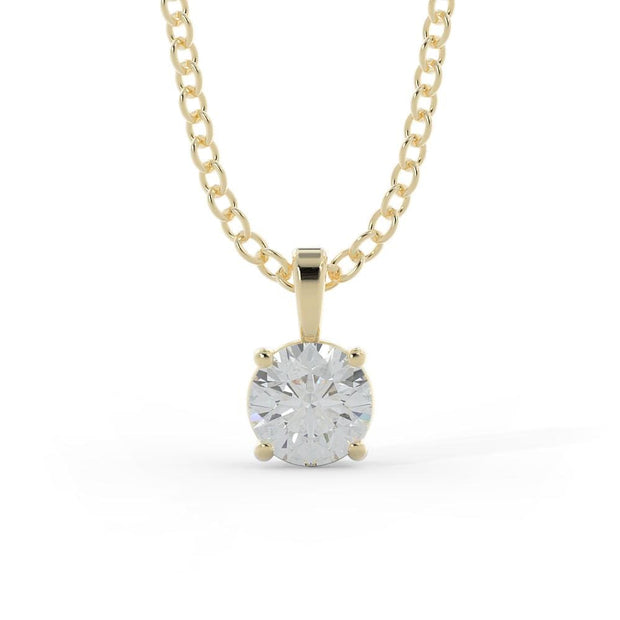 ½ CT TW 14k <strong>Yellow Gold</strong> Lab-Grown Diamond Solitaire Necklace