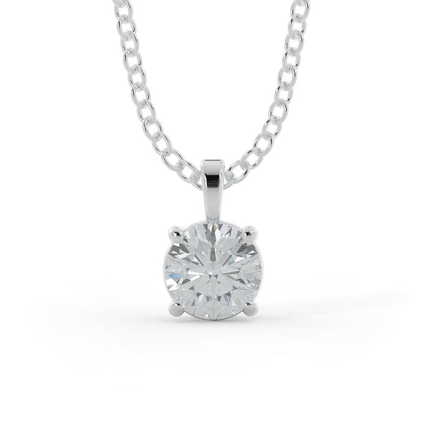 ¾ CT TW 14k <strong>White Gold</strong> Lab-Grown Diamond Solitaire Necklace