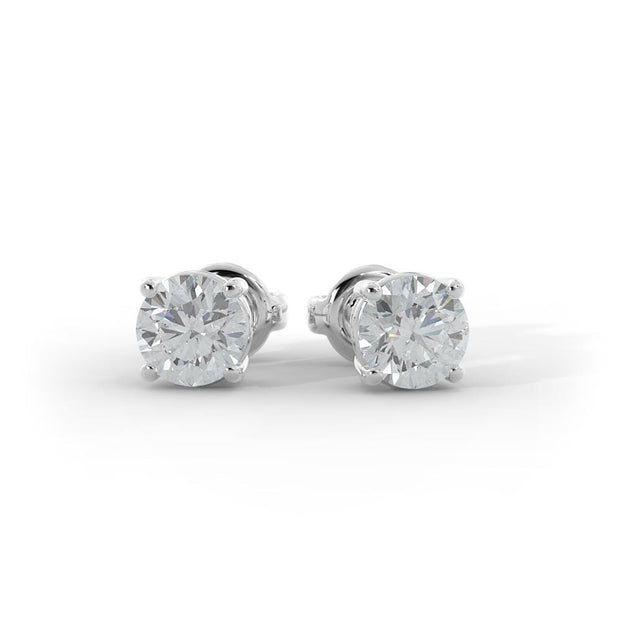 ½ CT TW 14k <strong>White Gold</strong> Lab-Grown Diamond Stud Earrings