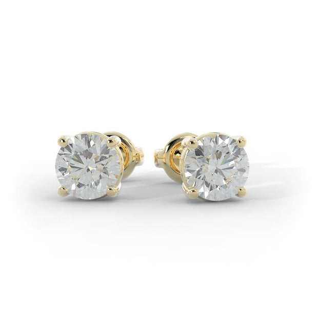 ¾ CT TW 14k <strong>Yellow Gold</strong> Lab-Grown Diamond Stud Earrings