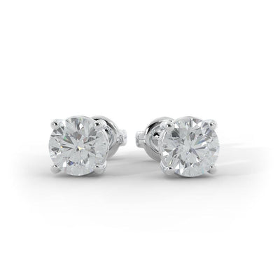 ¾ CT TW 14k <strong>White Gold</strong> Lab-Grown Diamond Stud Earrings