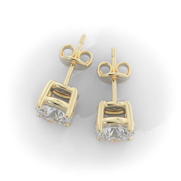 4 CT TW 14k <strong>Yellow Gold</strong> Lab-Grown Diamond Stud Earrings