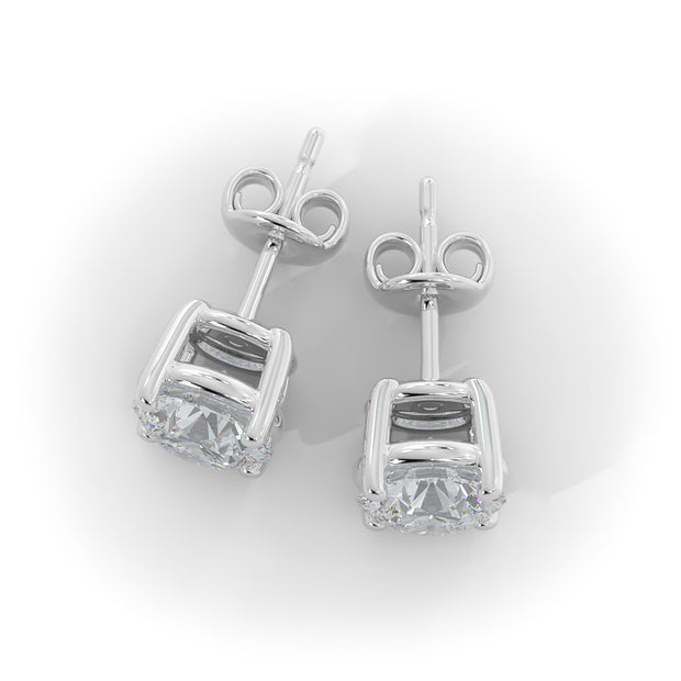 4 CT TW 14k <strong>White Gold</strong> Lab-Grown Diamond Stud Earrings