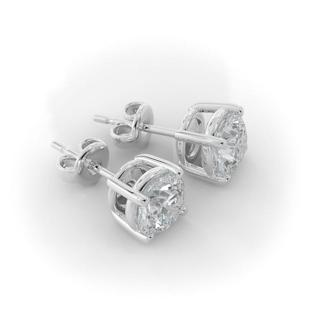 1 CT TW 14k <strong>White Gold</strong> Lab-Grown Diamond Stud Earrings